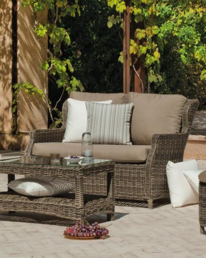 Salon de Jardin BORSALINO 4 places | Résine tressée | HEVEA mobilier ...
