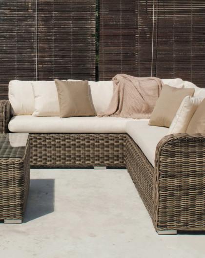 Salon de Jardin BORSALINO 6 places | Résine tressée | HEVEA mobilier de  jardin