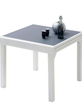 Table de jardin Modulo 4 à 8 place(s) Blanc - Gris Perle