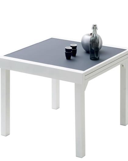 Acheter Tab. 90/180 Modulo 4/8 Blanche/Gris Perle 4 à 8 place(s)   Mobilier  de jardin WILSA   Toutpo