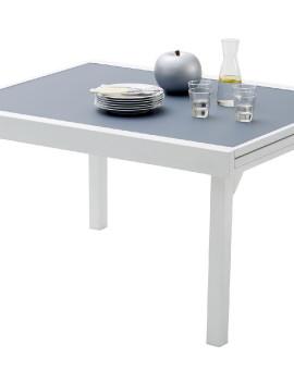 Table de jardin Modulo 6 à 10 place(s) Blanc - Gris Perle