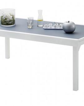 Table de jardin Modulo 8 à 12 place(s) Blanc - Gris Perle