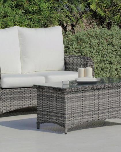 achat vente Salon de jardin BATIK Canapé 2pl + Fauteuils + table basse    HEVEA mobilier de jardin