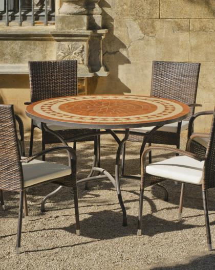 Catalogue Table Jardin Mosa Ef Bf Bdque Table Mosaique Ronde En
