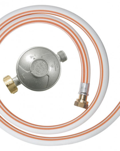 Kit gaz détendeur butane + tuyau 1m50 - valide 10 ans à visser