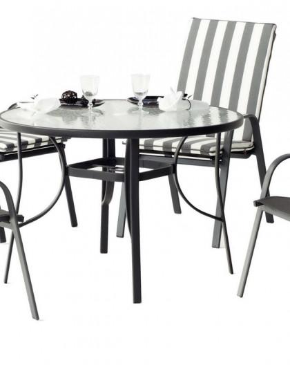 Salon de Jardin ODESA 4 places | aluminium | HEVEA mobilier de jardin