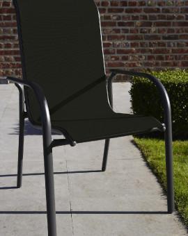 Fauteuil de jardin fauteuil à manger BlackSun 1 place(s) Noir