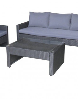 Salon de jardin Sofa 6 place(s) Noir Anthracite