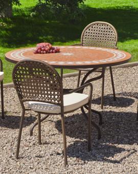 Salon de Jardin LORNY-BELFAST 4 places avec coussins