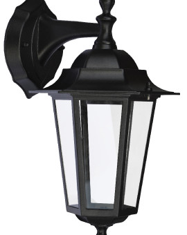APPLIQUE DESCENDANTE E27 60W - NOIR