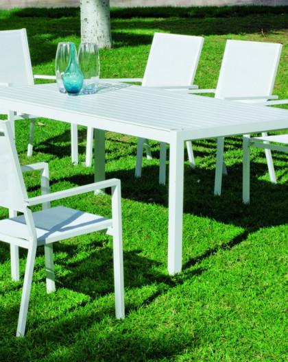 Salon de Jardin IBIZA 8 places | aluminium | HEVEA mobilier de jardin