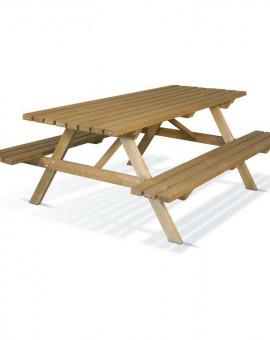 Table pique nique 200 cm