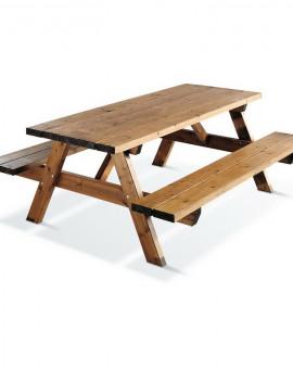 Table pique nique 200 cm 6 personnes traitée Classe 4