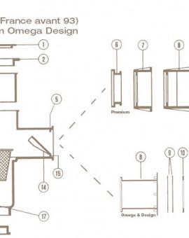 Joint Adhésif Omega Skimmer COFIES Grande Meurtrière