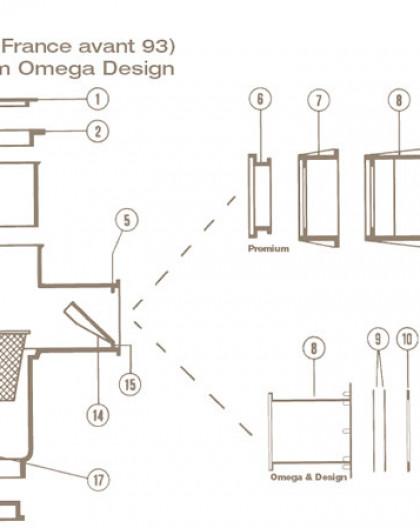 Axe de Volet Skimmer COFIES Ancien Modèle