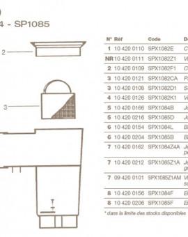 Visserie pour Montage sur Panneau Skimmer HAYWARD