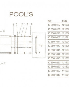 Kit Vis et Rondelles Skimmer POOLS
