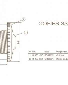 Chapeau Refoulement COFIES 3304