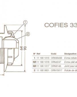 Ecrou Rotule Chapeau Refoulement COFIES 3310