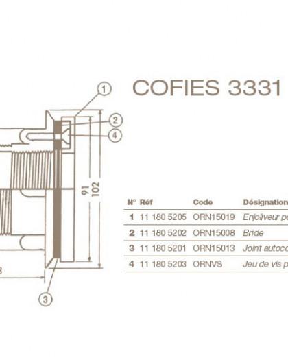 Enjoliveur Refoulement COFIES Liner 3329 et 3331