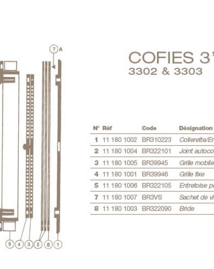 Joint Autocollant Refoulement COFIES 3302 et 3303, 3, BR322101