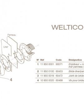 Enjoliveur + Rotule Refoulement POOLS Béton/Liner/Panneau/Coque