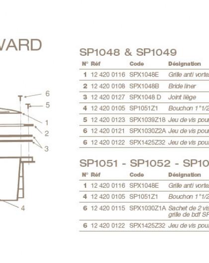 Joint Liège Bonde de Fond HAYWARD SP1048 et SP1049