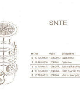 Jeu de Vis Inox (x12) pour Bonde de Fond SNTE Liner