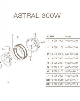 Jeu de 2 Joints Adhésif pour Projecteur ASTRAL Liner 300W