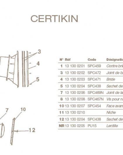 Joint de Lampe pour Projecteur CERTIKIN