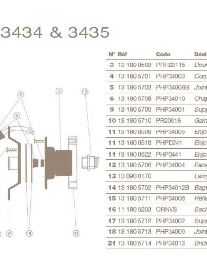 Corps dOptique pour Projecteur COFIES 100W