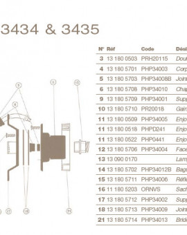 Chapeau Presse Etoupe pour Projecteur COFIES 100W
