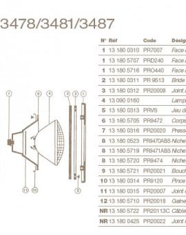 Jeu de Vis pour Projecteur COFIES 300W, Liner, PRVS