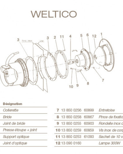 Joint dOptique pour Projecteur WELTICO
