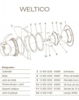 Vis Inox de Corps pour Projecteur WELTICO