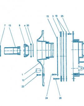 Nage à Contre courant - Pièce à sceller - Num 3 - Bride pour piscine liner ou polyester