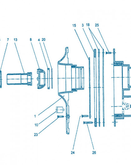 Nage à Contre courant - Pièce à sceller - Num 4 - Appui de rotule inférieur arrière