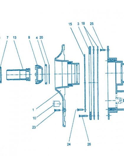 Nage à Contre courant - Pièce à sceller - Num 26 - Jeu de 12 vis support liner