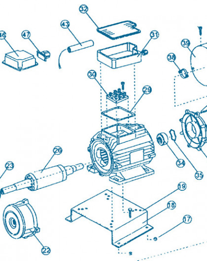 Nage à Contre courant - Moteur Partie Arrière - Num 38 - Fixation ventilateur