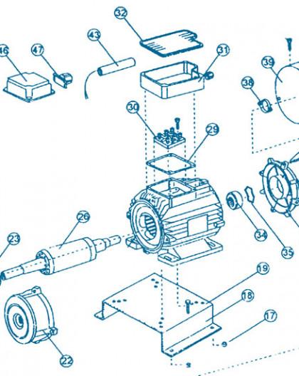 Nage à Contre courant - Moteur Partie Arrière - Num 41 et 42 - Fixation bride moteur