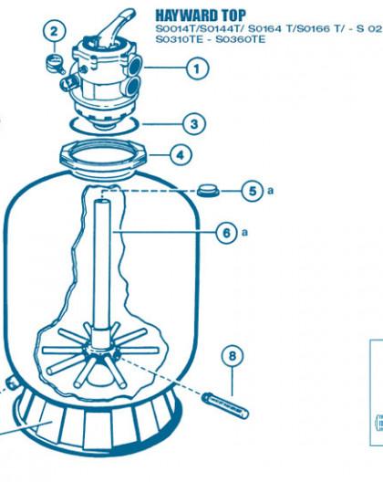 Filtre Top - Num 6a - Diffuseur inférieur et tube central S0310TE