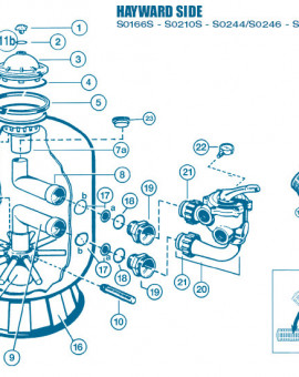 Filtre Side - Num 17a - Adaptateur détanchéité S0166 à 310 SE