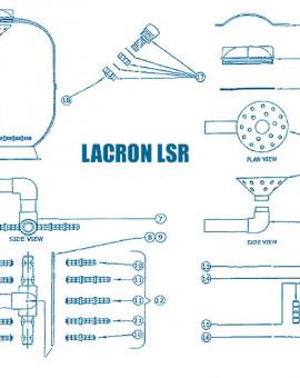 Filtre Lacron LSR - Num 13 - Traversée de paroi filetée + écrou