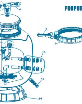 Filtre S36 - Num 1 - Collier de serrage (6 filets) Jusquà 2006