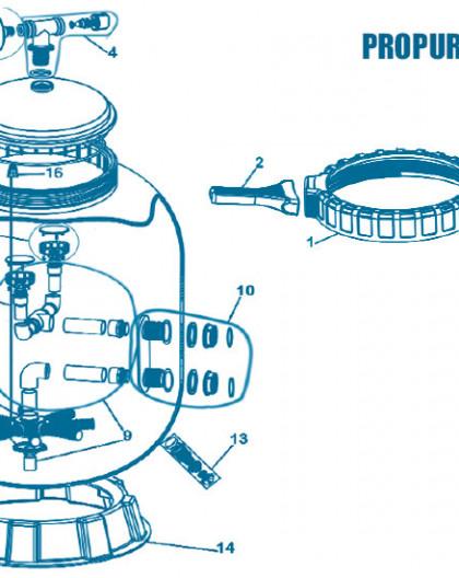 Filtre S36 - Num 2 - Poignée du collier serrage (unité)