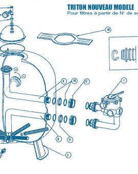 Filtre Nouveau Modèle - Num 9 - Tube de distribution supérieur pour TR40