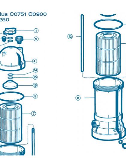 Filtre Gamme Star Clear Plus - Num 1 - Poignée de fermeture C0900 et C1200