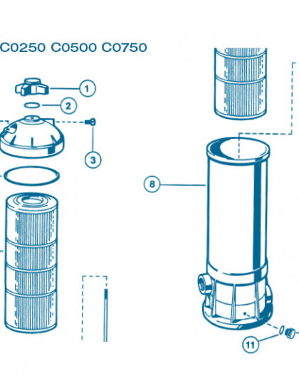 Filtre Gamme Star Clear I - Num 8 - Cuve filtre C0250