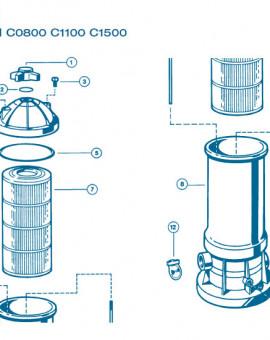 Filtre Gamme Star Clear II - Num 6 - Tige de serrage C1100