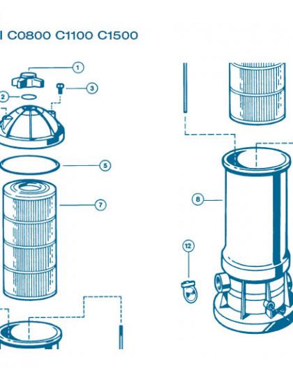 Filtre Gamme Star Clear II - Num 8 - Cuve filtre C1100